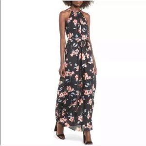 Everly Floral Maxi Dress Halter Dress Size XS
